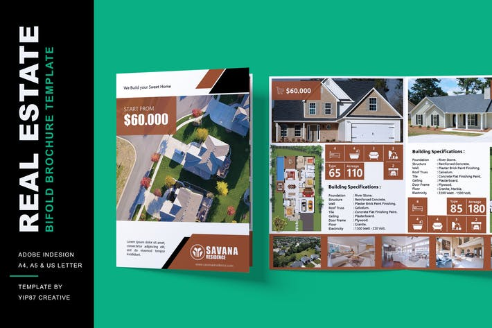 Thumbnail for Real Estate and Property - Bifold Brochure