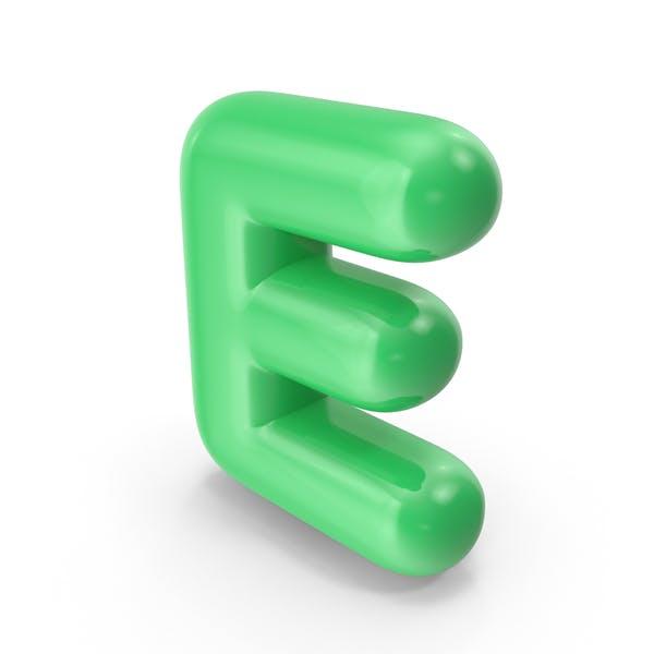 Grüner Toon-Ballonbuchstabe E
