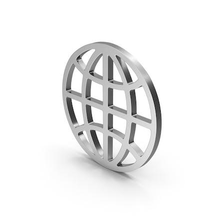 Символ Web серебро