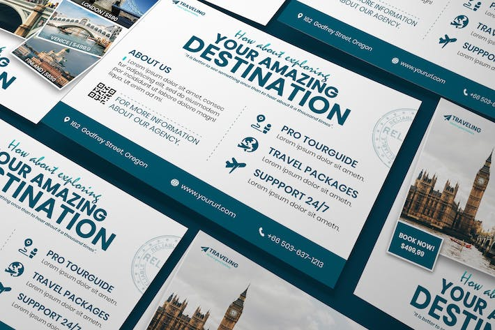 Thumbnail for Travel A5 Business Flyer PSD Template