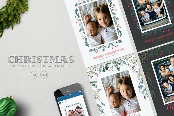 Thumbnail for Christmas Photo Cards+ Instagram Post