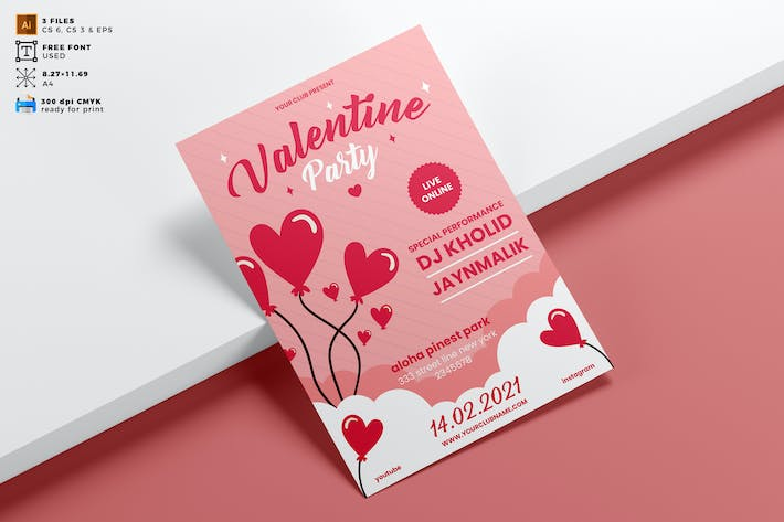 Valentine's Day Flyer Template Vol. 06