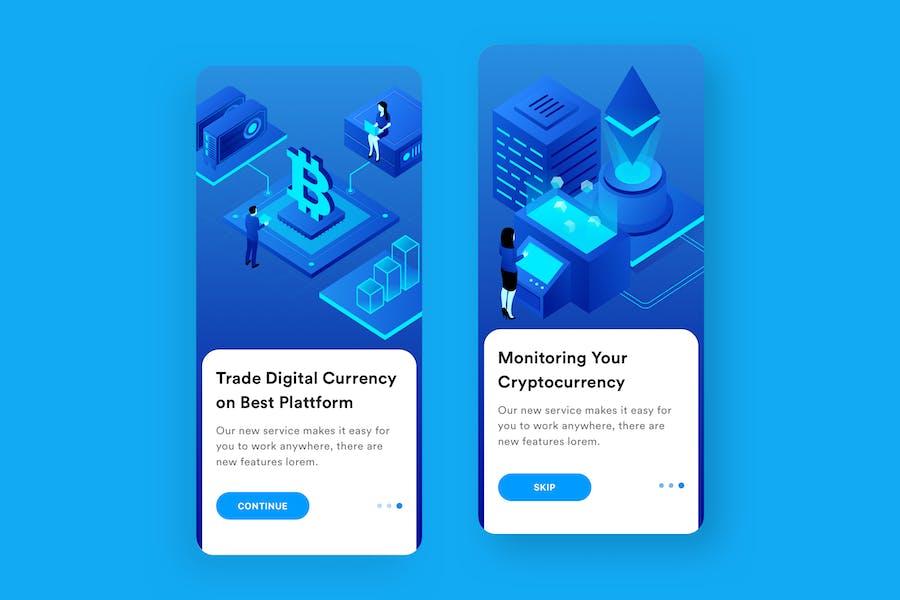 Cryptocurrency Platform Mobile Onboarding