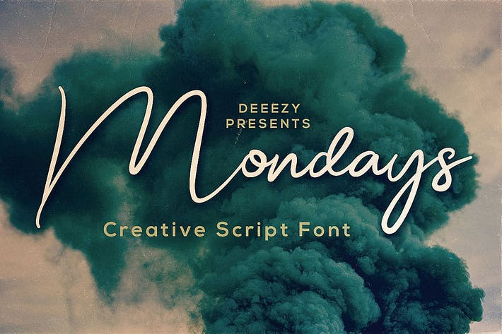 Thumbnail for Mondays Script Font