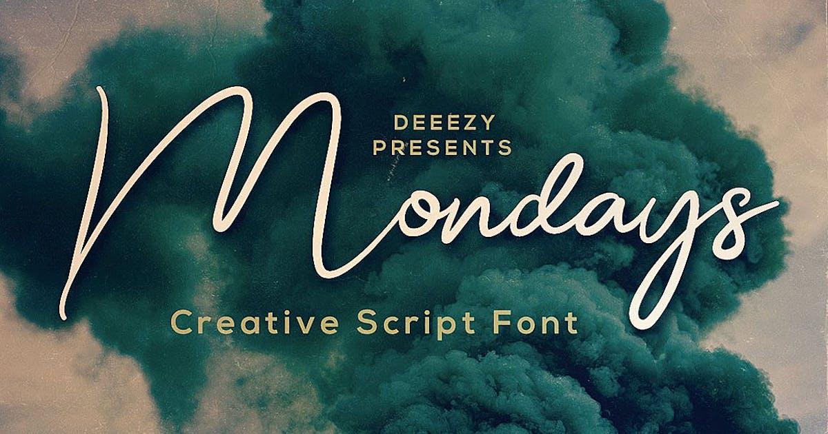 Mondays Script Font by cruzine