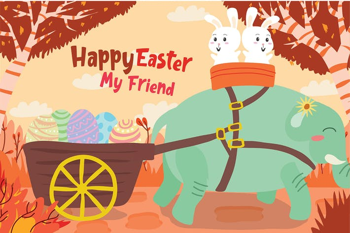 Cover Image For Easter - Vector Illustration