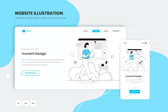 Thumbnail for Web Content Design Illustration