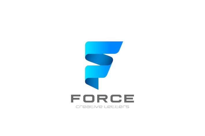 Thumbnail for Logo F Letter Ribbon style