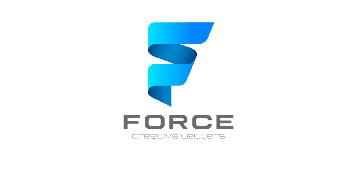 Download Logo F Letter Ribbon style by Sentavio