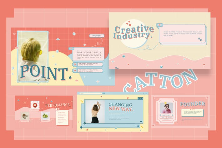 Thumbnail for Catton Cute Pastel Powerpoint - JJ