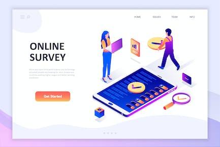 Online-Umfrage Isometrisches Konzept