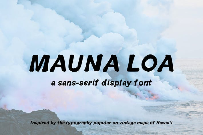 Thumbnail for Mauna Loa | Vintage Hawaiian Font