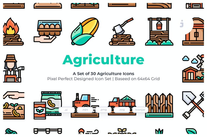 Thumbnail for 30 Agriculture Icons