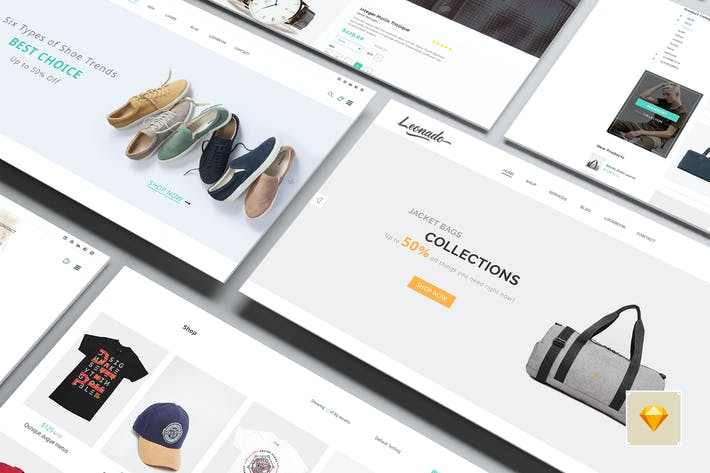 Thumbnail for Leonado - Multipurpose eCommerce Sketch Template