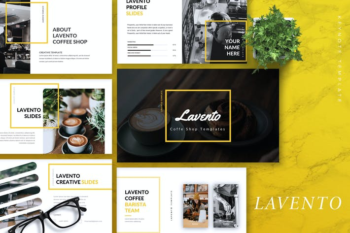Thumbnail for LAVENTO - Coffee Shop Keynote Template