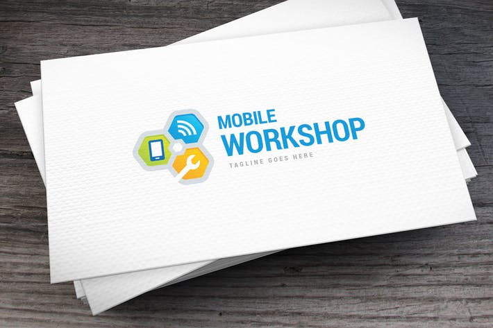 Thumbnail for Mobile Workshop Logo Template