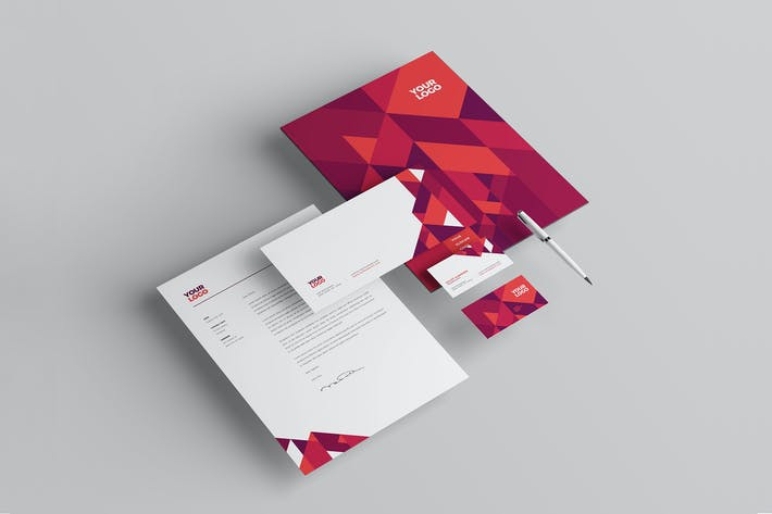 Thumbnail for Modern Red Pattern Stationery