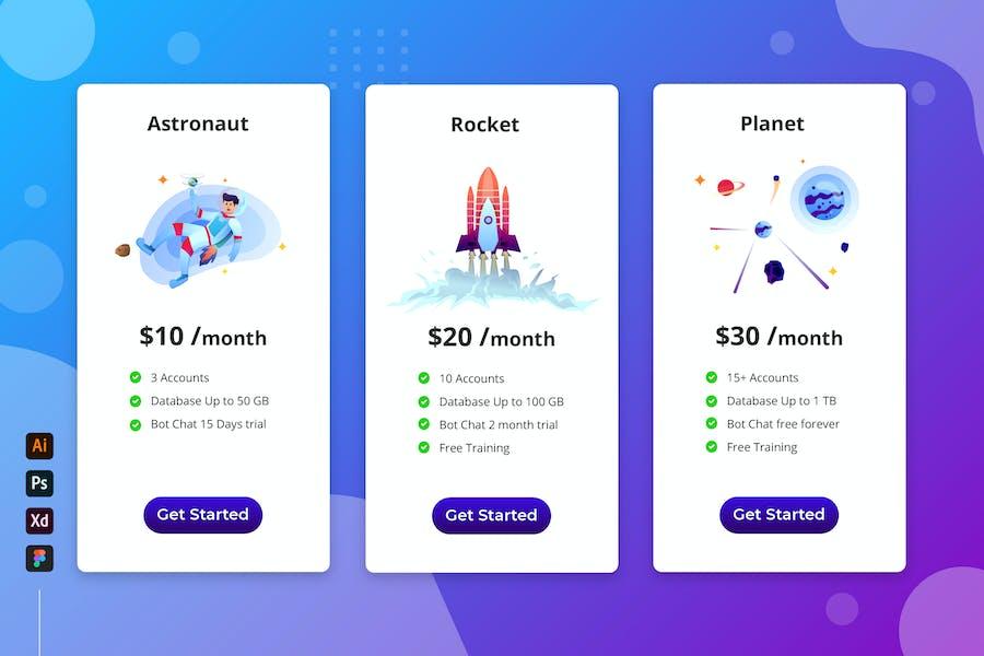 Space - Cloud Storage Pricing Table