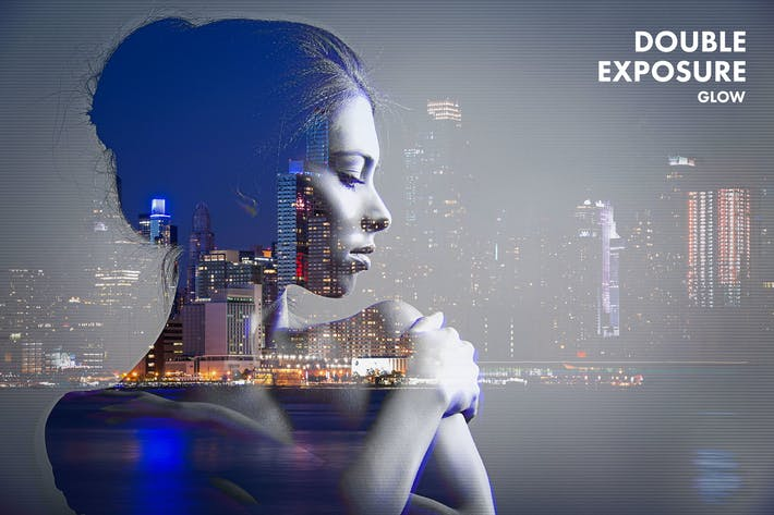 Cover Image For Double Exposure Glow Photoshop Action