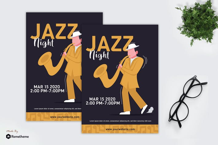 Thumbnail for Night Jazz - Creative Flyer GR