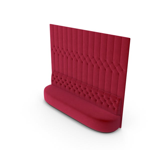 Thumbnail for Rotes Velvet getuftetes Sofa