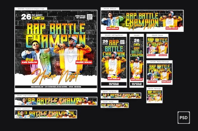 Rap Battle Banners Ad