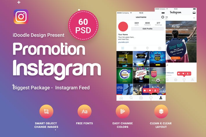 instagram layout psd promotion instagram -  psdidoodle on envato elements