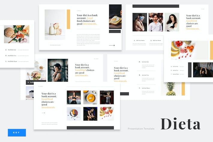 Thumbnail for Dieta - Diet Plan Food Keynote Template