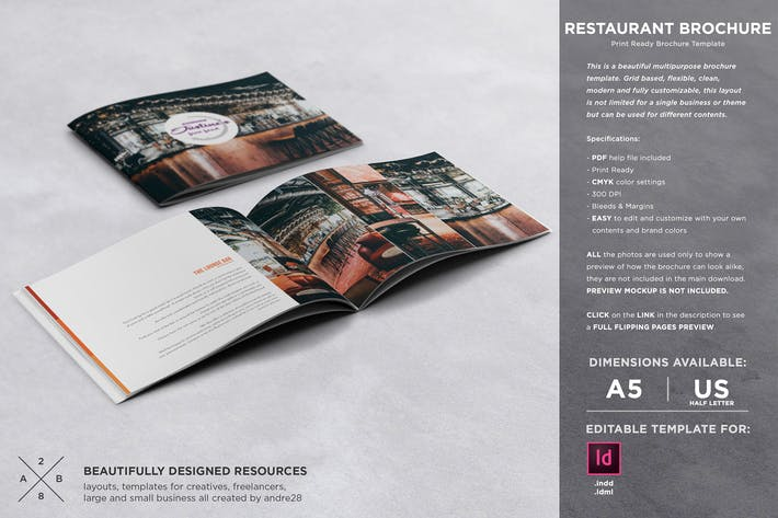 Cover Image For Restaurant Brochure Template