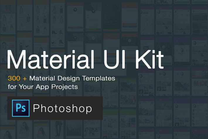 Thumbnail for Material Design UI KIT - 300+ for Photoshop
