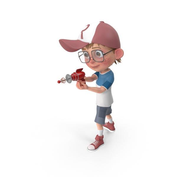 Cartoon Boy Shooting