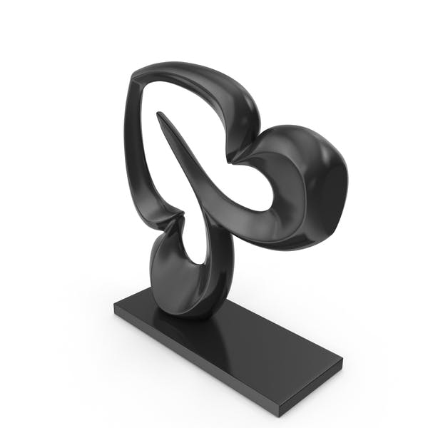 Abstract Figure Black