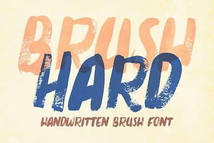 Brush Hard - Handwritten Font