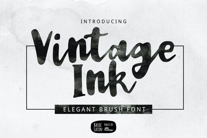 Thumbnail for Vintage Ink Font