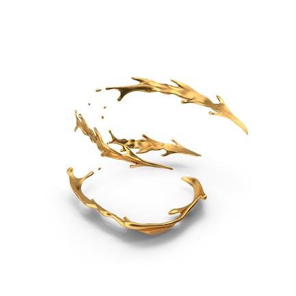 Goldener Spiralspritzer