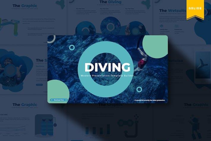 Thumbnail for Diving | Google Slides Template