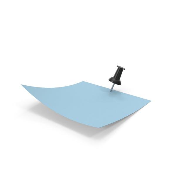Синяя бумага с черным штифтом