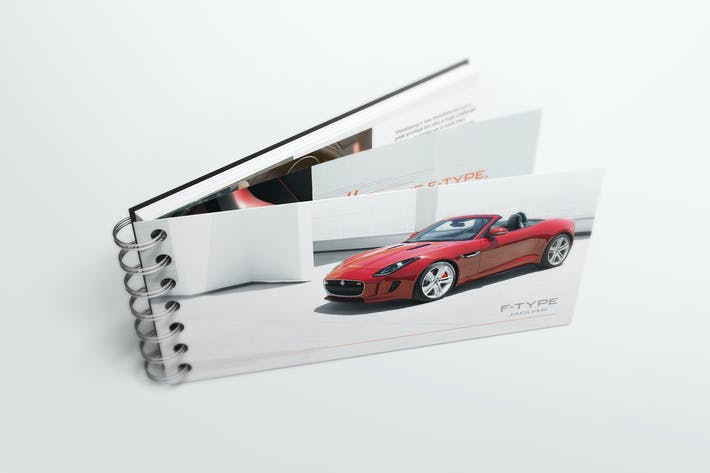 Thumbnail for Spiral Bound Book / Catalogue Mockups 4