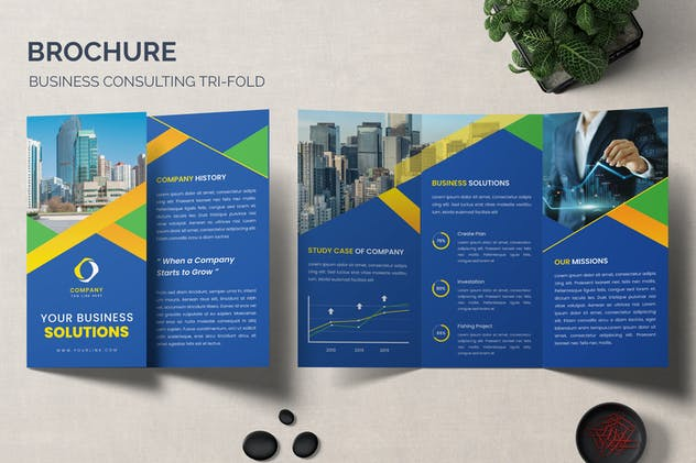 Finance Trifold Brochure Business