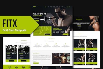 FitX - Plantilla de musa de fitness y gimnasio YR