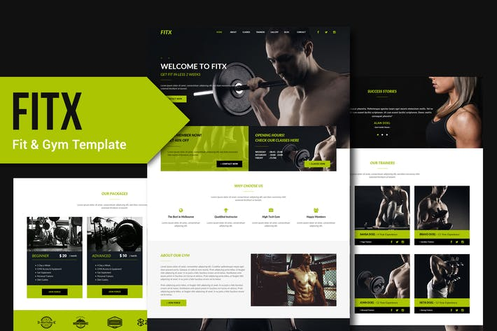 Thumbnail for FitX - Fitness & Gym Muse Template