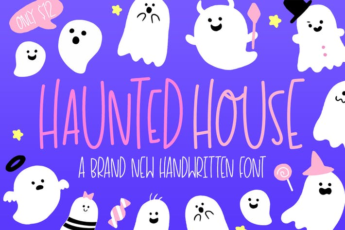 Cover Image For Haunted House Font