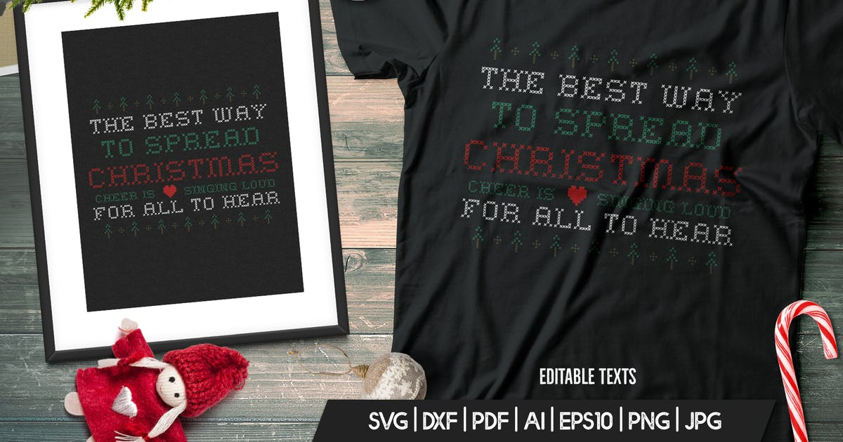 Download Fun Christmas Tshirt, Happy New Year, Xmas Design by JeksonJS