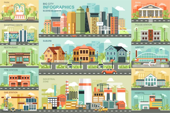 Thumbnail for City Life Infographics