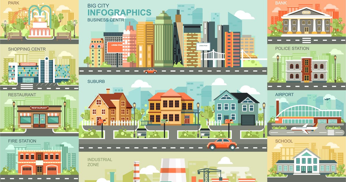 Download City Life Infographics by alexdndz