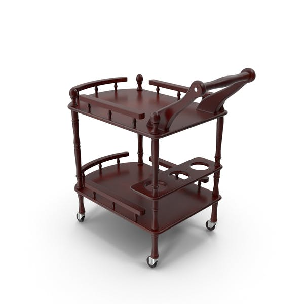 Thumbnail for Wooden Serving Trolley
