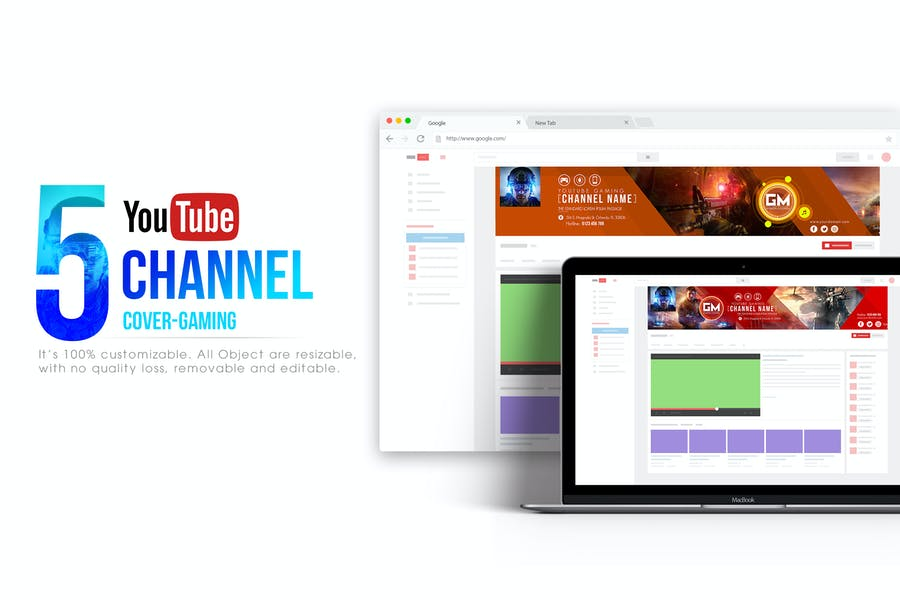Gaming Channel-Youtube Banner Template