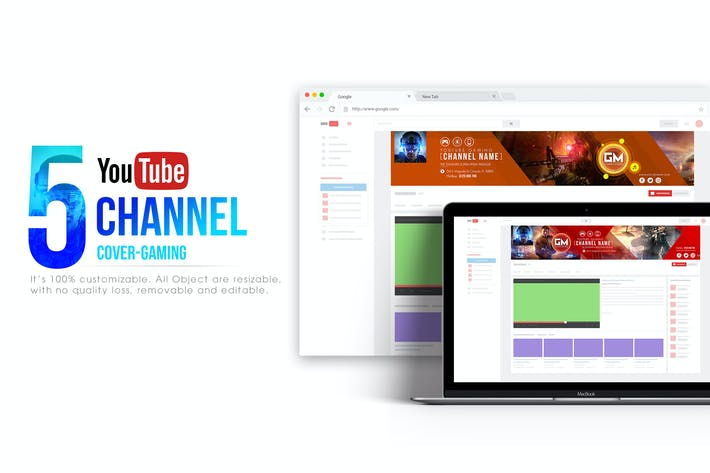 Gaming Channel-Youtube Banner Template by Wutip on Envato Elements