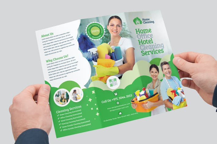 Thumbnail for Cleaning Service Trifold Brochure