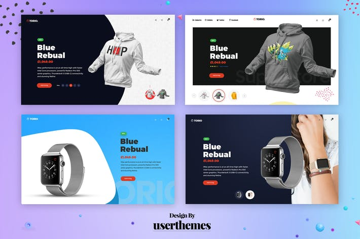 Thumbnail for Exploration Product Page Design Template